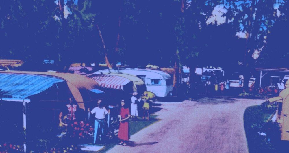 Florida Trailer Park Blue Overlay