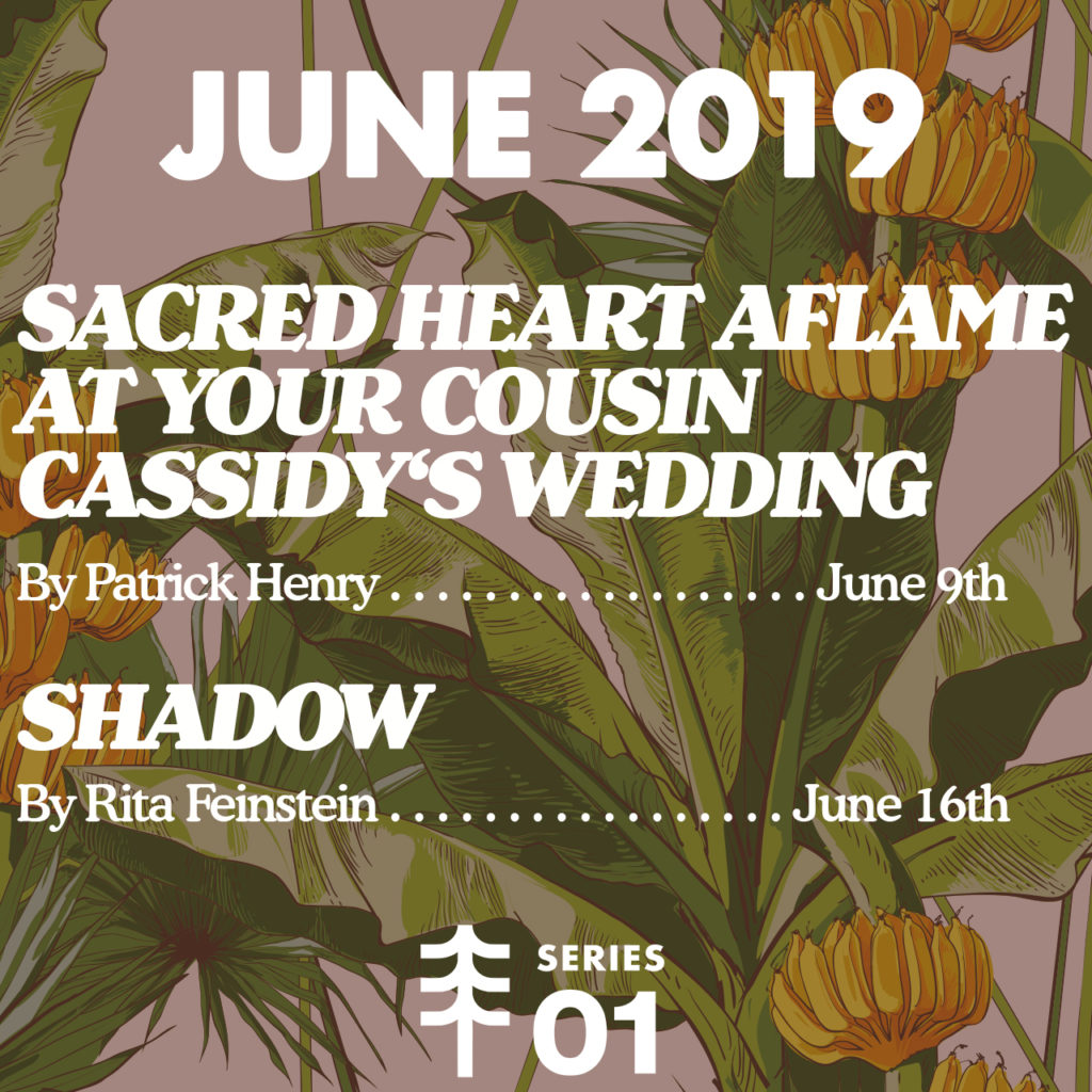"Scheduled stories: ""Sacred Heart Aflame at Your Cousin Cassidy's Wedding"" by Patrick Thomas Henry on June 9th and ""Shadow"" by Rita Feinstein on June 16th"
